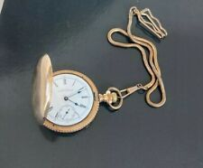 Antique 14k Yellow Gold 1903 American Waltham Hunter Case Pocket Watch Look Read