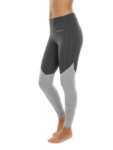 O'Neill Running Leggings Functional Pants Grey Kinetic Motion Reflector