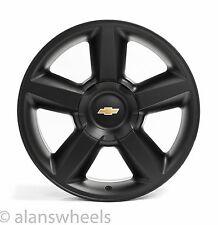 4 NEW Chevy Silverado Avalanche LTZ Matte Black 20 Wheels Rims Gold Bowtie 5308