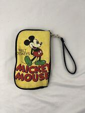 Walt Disney Mickey Mouse Purse Wallet Yellow Black Coin Bag Vintage Look