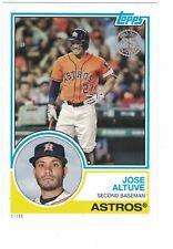 "2018 Topps '83 Style 5x7"" #/49 Jose Altuve Houston Astros SET BREAK OVERSIZED"