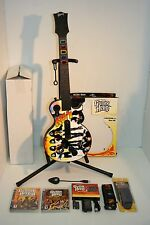 PS3 *KISS* Guitar Hero RedOctane, DONGLE, KISS Strap, Stand, Battery Kit, 2Games