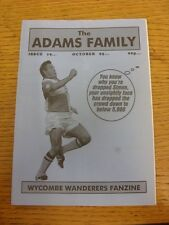 Oct-1995 Wycombe Wanderers: Fanzine - The Adams Family Issue 19 (folded). Thanks