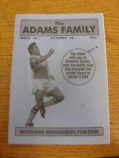 Oct-1995 Wycombe Wanderers: FANZINE-LA FAMIGLIA ADAMS EDIZIONE 19 (piegato). grazie