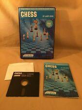 Atari 400/800 CHESS Larry Atkin ODESTA - Disk Manual & Case AS-IS