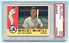 1960 TOPPS #350 MICKEY MANTLE PSA 5 EX B30899896 YANKEES