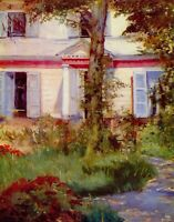 House in Rueil by Edouard Manet Giclee Fine Art Print Reproduction on Canvas