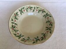 Holly Traditions FPO Soup Bowl Made in China Berries with Inner Ring Christmas