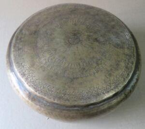 Antique Bread Chapati Brass Round box kitchen Metal ware household utility decor