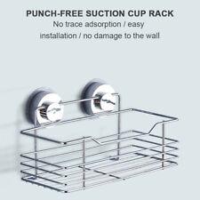Bathroom Kitchen Corner Wall Suction Storage Rack Organizer Shower Shelf Basket