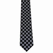 "Generic Men's 100% Silk Floral Black Blue Yellow Neck Tie Classic 3 3/4"" x 58"""