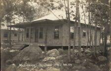 Belgrade Lakes ME Maplehurst Cottage c1915 Real Photo Postcard