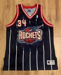 Vintage 90/'s HAKEEM OLAJUWON Houston Rockets Youth Small Basketball Jersey RARE made by Champion