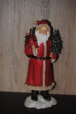 Weihnachts Deko Figur Nikolaus Weihnachtsmann mit Sack Stoff Braun 65cm groß Neu
