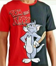 NEW WB Freeze Max Red Two Tone Tom and JERRY T-Shirt SIZE XL