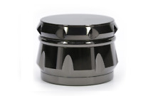 Drum Shaped 2.25 Inches 4 Layers Tobacco Spice Herb Grinder In Gun Metal Color