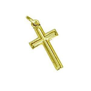 18ct 18k Yellow Gold Cross Pendant