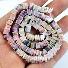 125.00 Cts / 16 Inches Earth Mined Pink Australian Opal Drilled Beads Strand