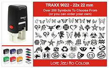 TRAXX Self Inking Stamp 9021 LOGO COMPANY SCHOOL PET BAR ANCIENT SERVICE TRIBAL