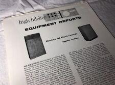 Hi-Fi Equipment Reports Klipschorn And Klipsch Cornwall Speaker Systems Mj752