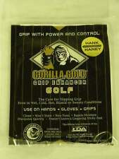 Gorilla Gold Grip Enhancer Cloth Tacky Grip New Hank Haney Golf