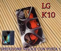 Cover custodia in gomma di silicone per Smartphone LG K10 FANTASIA DISCO FRENI