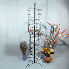 "Metal Rotating Earring Rack Wire Jewelry Display Stand 24"" x 63 1/2""H"