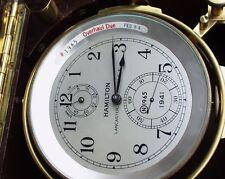 Hamilton Model 21 Ships Chronometer Both Boxes Last Used on USS Abraham Lincoln