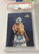 Rey Mysterio 2010 Topps Wwe Rumble Pack Blue Foil Insert #3 Psa 7