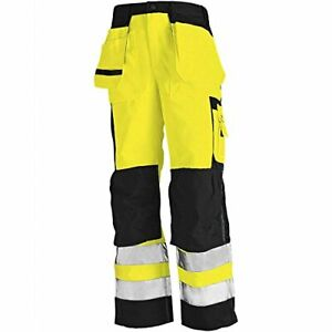 Blaklader Hi Vis KneePad Trousers with Nail Pockets (Multi Colour Choices) -1533