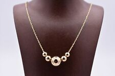 10mm Shiny Bead Ball Pendant Necklace Real 10K Yellow Gold Twisted Rope Chain