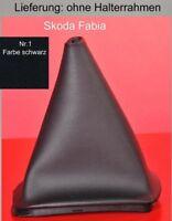Skoda Fabia 6Y Echtleder Farbe Schaltsack Schaltmanschette Schalthebelmanschette
