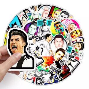 Cristiano Ronaldo CR7 50 Pcs Vinyl Decal sticker Portugal Juventus Real Madrid
