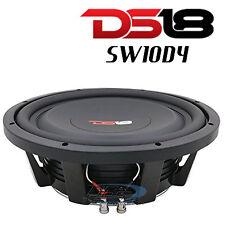 """DS18 SW10D4 10"""" Shallow Mount Subwoofer 1000W Max Dual 4 Ohm Voice Coil Sub"""