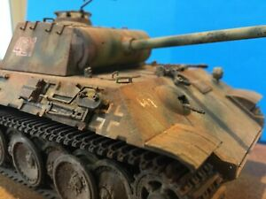1/35 WW2 German Panther V Tank. Built And painted .