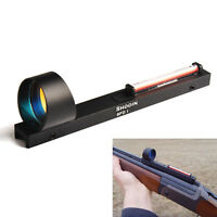 Red Fiber Red Dot Sight Holographic Scope Sight For Shotgun Rib Rail Hunting