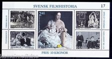 History of Film, Actors, Acteress, Horse Carriage, Sweden MNH SS   - Mu04