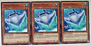 3X YUGIOH NIMBLE MANTA GAOV-EN097 CARDS NEAR MINT