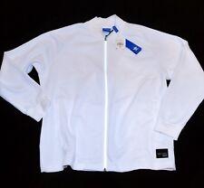 Adidas Retro Originals Classics Blanco Piqué Chaqueta de Chándal Hombre
