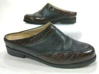 Ariat Black Brown Leather Mules Slip On Casual Shoes Womens 8.5 B 94302