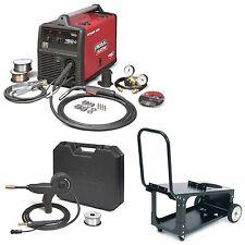 Lincoln Power MIG 180C Mig Welder w/ Cart & Spoolgun (K2473-2, K2275-1, K3269-1)