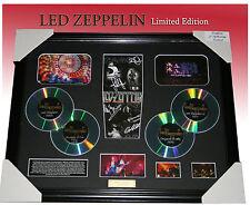 ON SALE!! LED ZEPPELIN 4CD MEMORABILIA SIGNED FRAMED, LIMITED EDITION TO 499 COA