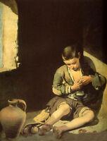 Stunning Oil painting Bartolome Esteban Murillo - The Beggar Boy canvas