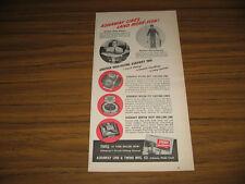 1952 Vintage Ad Ashaway Fishing Line World Record 32 Lb Albacore Rhode Island