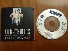 promo EURYTHMICS LENNOX - cd single GREATEST HITS LIVE FLASH magazine Italy