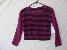 Jessica Simpson Sequined Fuchsia Girl Sweater size Medium NWT G82198