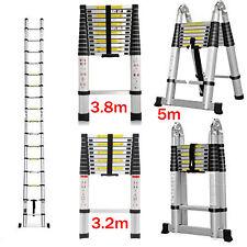 More details for aluminium telescopic ladders step ladder extendable long extension 2.6m - 6m uk