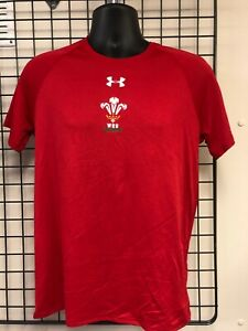 Under Armour 2018-2019 Wales Rugby WRU Sleeveless Training Tee Red