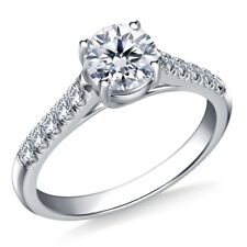 0.70 Ct Round Cut Solitaire Diamond Engagement Ring Solid Gold Wedding Rings