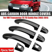 7Stk/Set Türgriffabdeckungen Türgriff Carbon 3Tür Für VW TRANSPORTER T5 T6 CADDY